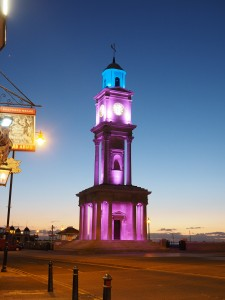 Herne Bay Clocktower In Purple